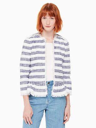 Kate Spade Stripe tweed jacket