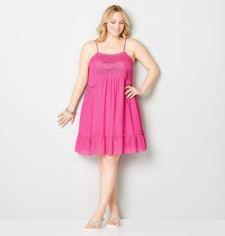 Avenue Lace Bodice A-Line Flounce Dress
