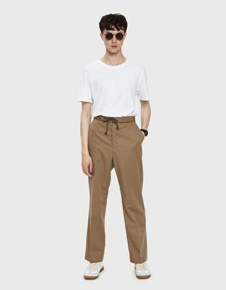 Maison Margiela Wool Cotton Gabardine Trousers in Beige