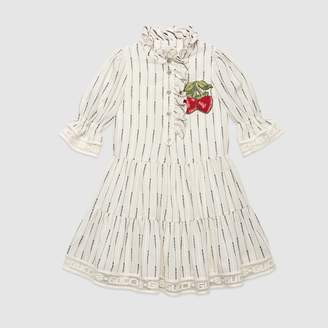 Gucci Children's jacquard stripe dress