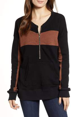 n:PHILANTHROPY Stripe Quarter Zip Sweatshirt