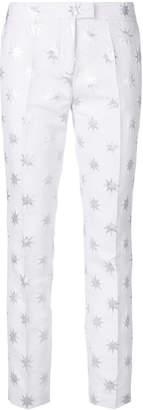 Christian Pellizzari star print slim fit trousers