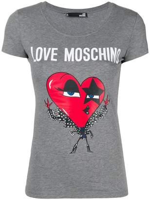 Love Moschino rockstar heart T-shirt