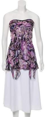Diane von Furstenberg Silk Off-The-Shoulder Embellished Top