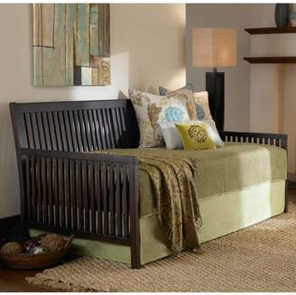 Leggett & Platt Mission Complete Wood Daybed with Euro Top Deck and Trundle Bed Pop-Up Frame, Espresso Finish, Twin