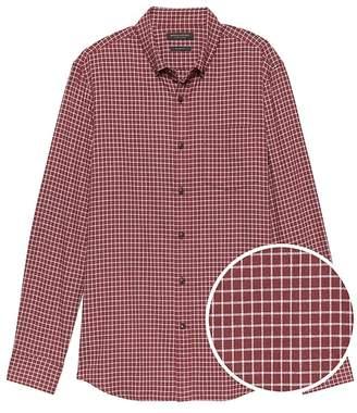 Banana Republic Grant Slim-Fit Luxe Flannel Grid Shirt