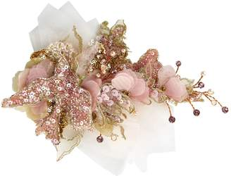 Mischka Aoki Sequin Flower Hair Clip