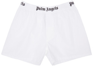 Palm Angels White Oxford Boxers $110 thestylecure.com