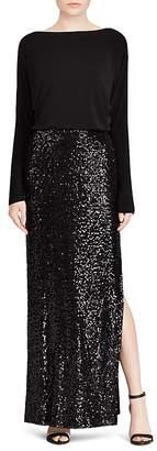 Lauren Ralph Lauren Sequin-Skirt Gown