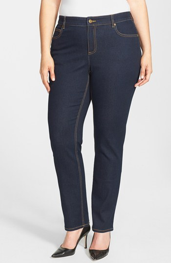 Vince Camuto Two by Classic Skinny Jeans (Midnight Denim) (Plus Size)