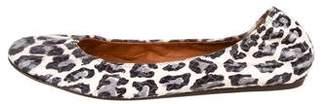 Lanvin Round-Toe Snakeskin Flats