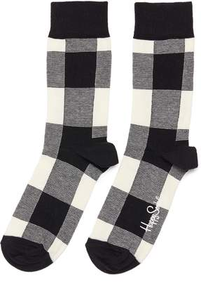 Happy Socks 'Lumberjack' gingham check socks