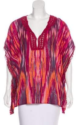 Calypso Oversize Abstract Pattern Top