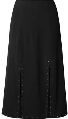 See by Chloe Embellished Crepe Midi Skirt - Black