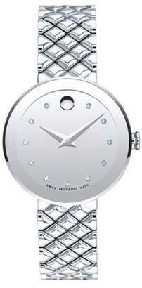 Movado 30mm Sapphire Diamond Bracelet Watch