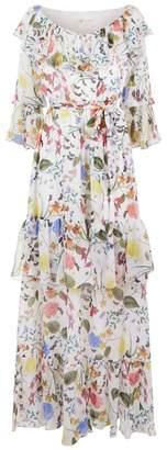 Margaux Borgo De Nor Garden Print Silk Maxi Dress