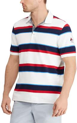 Chaps Big & Tall Regular-Fit Striped Stretch Mesh Polo