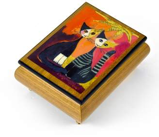 "Ercolano MusicBoxAttic Handcrafted Italian Musical Jewelry Box - ""Together"" By Rosina Wachtmeister - 9th Symphony (Ode to Joy, Hymm European)"