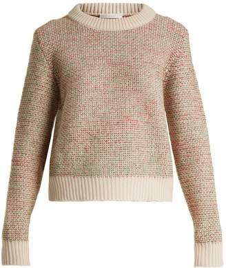Tweed wool-blend sweater