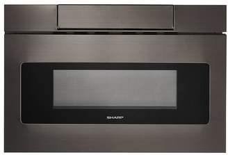 Sharp 24 Flat Panel Microwave Drawer in Black Stainless Steel