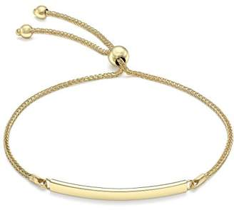 SPIGA Carissima Gold Women 9 ct (375) Yellow Gold Chain Adjustable Slider ID Bracelet 24 cm/9.5 Inch