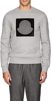 Moncler Men's Logo-Appliquéd Cotton Fleece Sweatshirt
