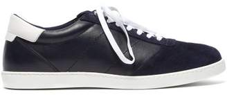 Buscemi Box Low Top Leather Trainers - Mens - Navy