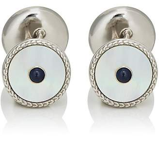 Deakin & Francis Men's Sapphire & Mother-Of-Pearl Chain Cufflinks