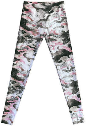 Terez Metallic Camo Leggings, Size 7-16