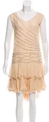 Blumarine Embellished Midi Dress