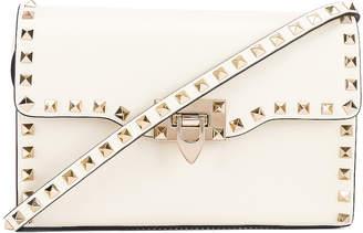 Valentino Rockstud Crossbody Bag in Light Ivory   FWRD