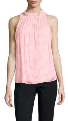 Rebecca Taylor Daisy Sleeveless Sheer Blouse
