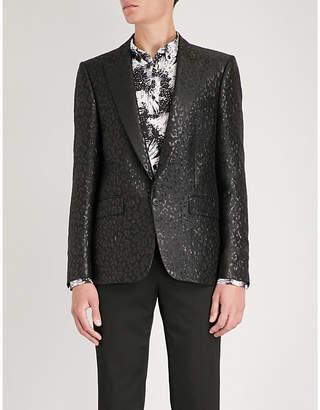 Givenchy Leopard-print slim-fit jacquard jacket