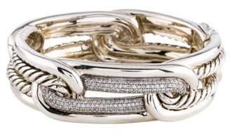 David Yurman Diamond Labyrinth Link Bracelet silver Diamond Labyrinth Link Bracelet