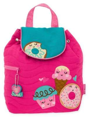 Stephen Joseph Donut Quilted Backpack in Pink