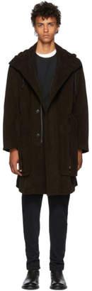 Ann Demeulemeester Black Cotton Parka Coat