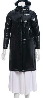 Douuod Hooded Knee-Length Coat w/ Tags