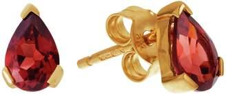Revere 9ct Gold Pear Garnet Earrings