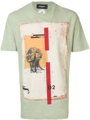 DSQUARED2 Anatomy stamp T-shirt