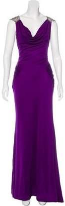Reem Acra Silk Evening Dress