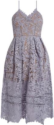 SELF-PORTRAIT Laelia lace midi dress $525 thestylecure.com