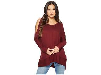 American Rose Andreea Top with Side Slits