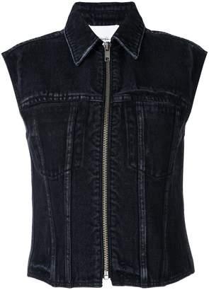 3.1 Phillip Lim denim zipped waistcoat