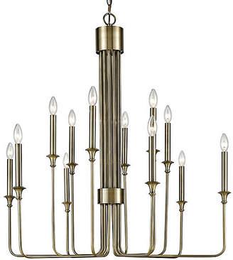 One Kings Lane Edward 12-Light Chandelier - Brass/Bronze