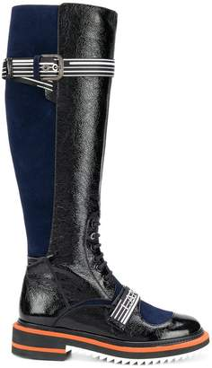 Lanvin logo lace-up boots