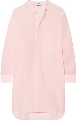 Acne Studios - Siva Cotton-poplin Shirt Dress - Pastel pink $470 thestylecure.com