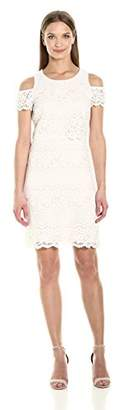 Jessica Simpson Women's Cold Shoulder Lace Pop Over Dress