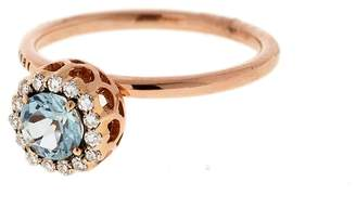 Selim Mouzannar Large Diamond and Aquamarine Ring - Rose Gold