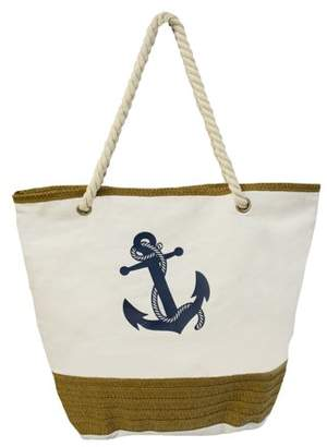 Vera Tote with Rope Handles, Anchor and Straw Detail