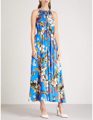 Diane von Furstenberg Floral-print silk midi dress